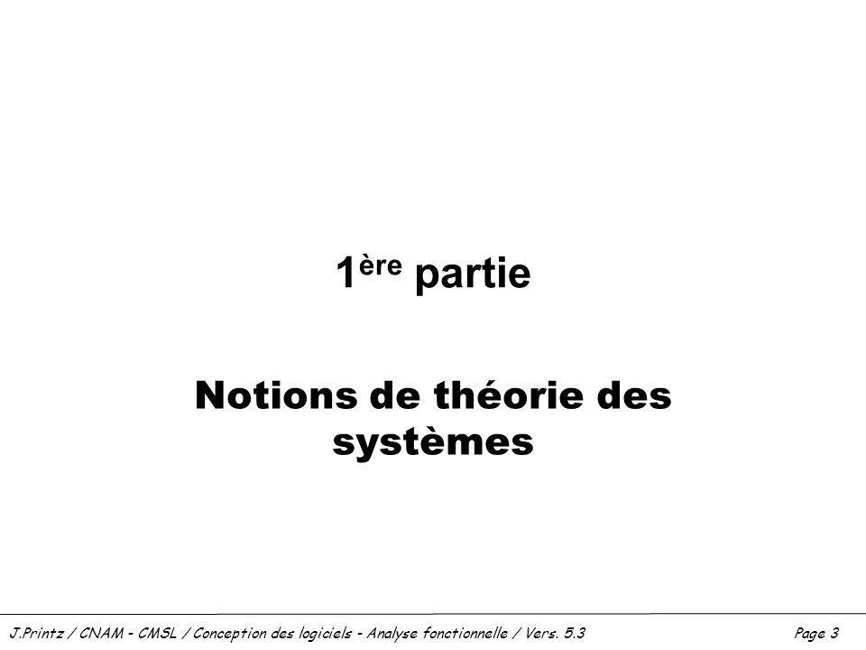 Notions de théorie des systèmes