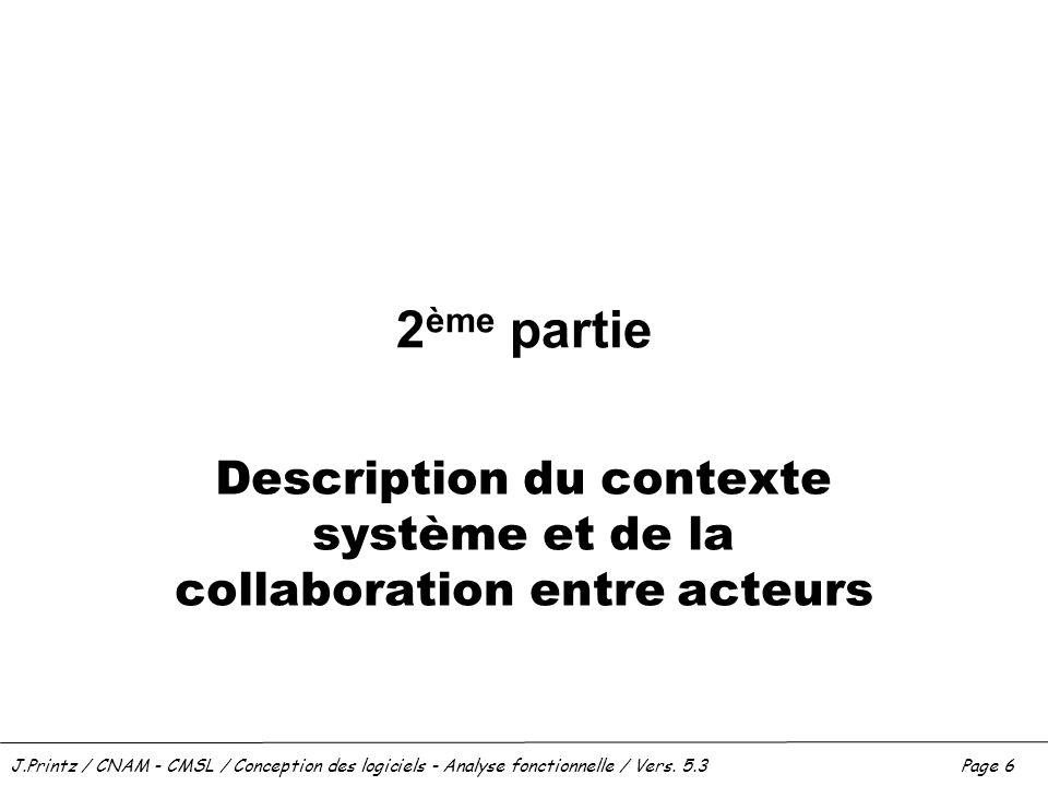 Description du contexte système et de la collaboration entre acteurs