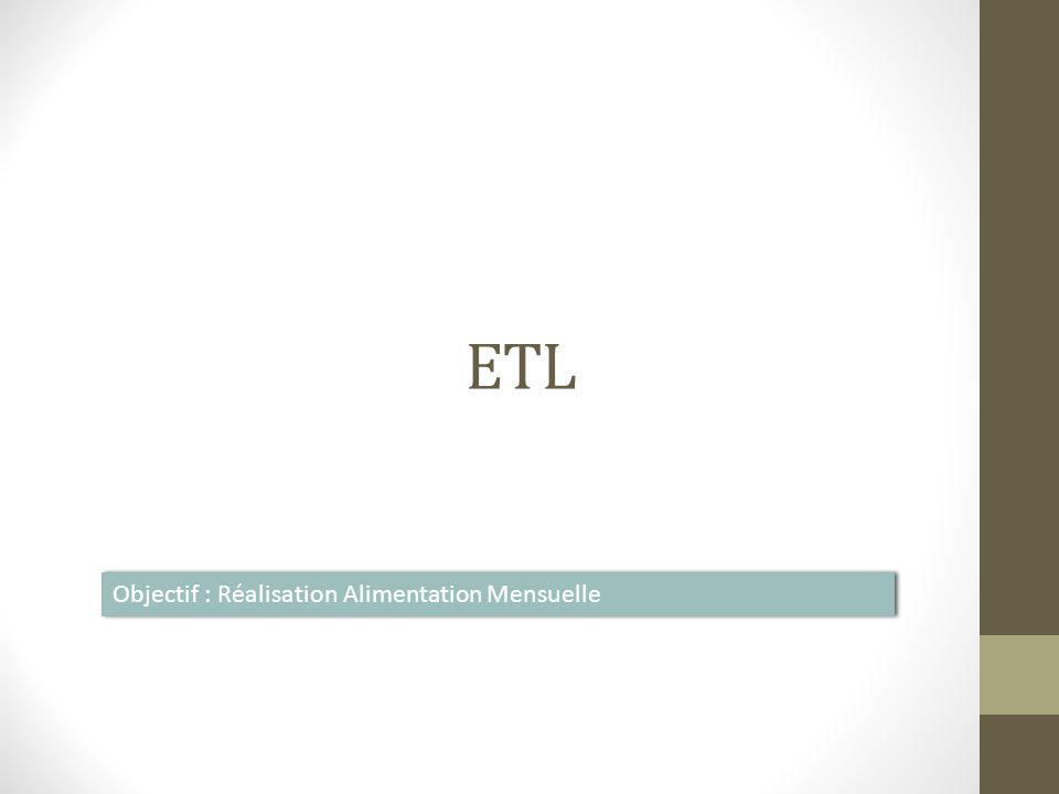 ETL Objectif : Réalisation Alimentation Mensuelle