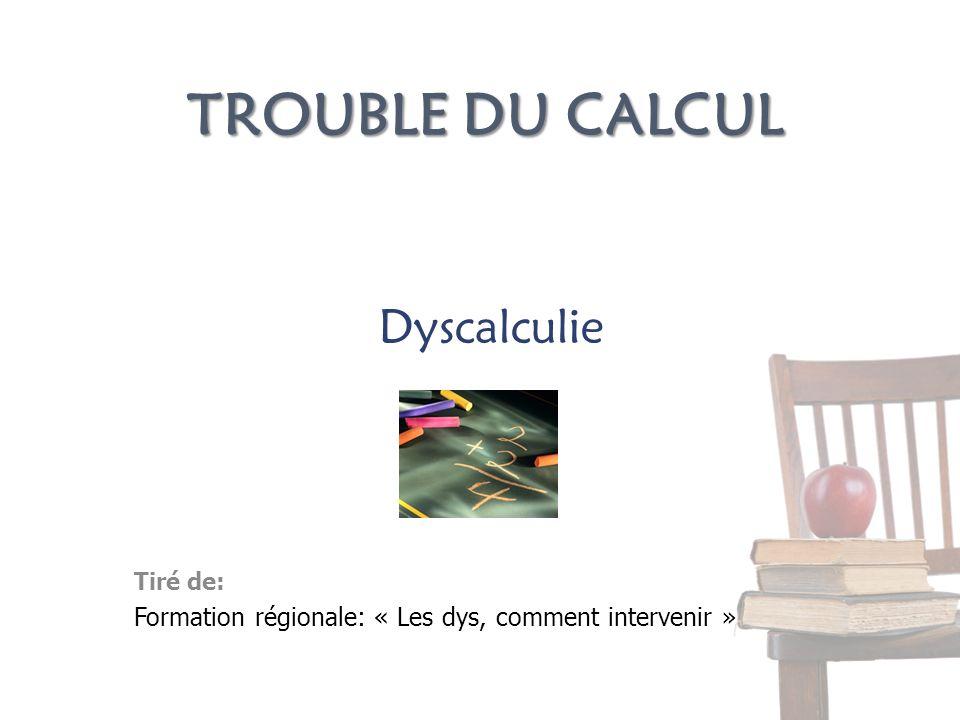 Trouble du calcul Dyscalculie