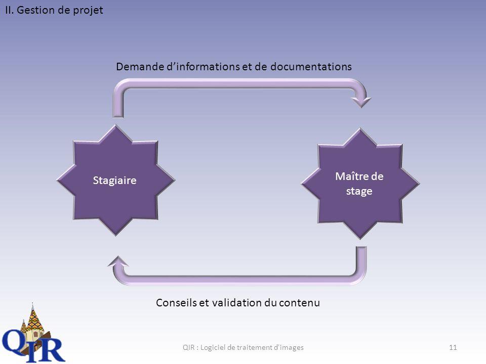 QIR : Logiciel de traitement d images
