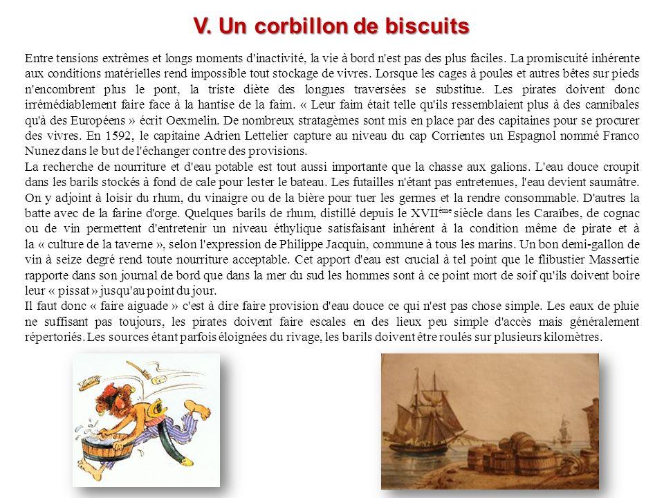 V. Un corbillon de biscuits