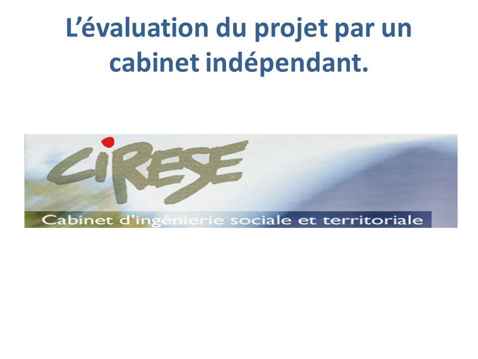 L'évaluation du projet par un cabinet indépendant.