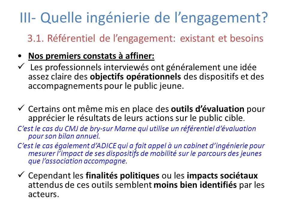 III- Quelle ingénierie de l'engagement. 3. 1