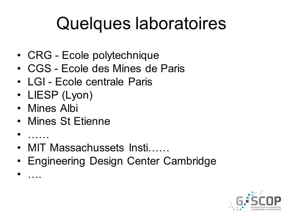 Quelques laboratoires
