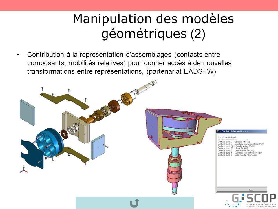 Manipulation des modèles géométriques (2)