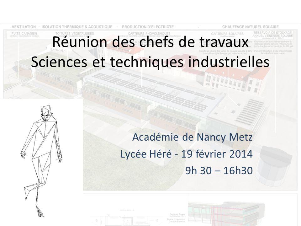 Réunion des chefs de travaux Sciences et techniques industrielles