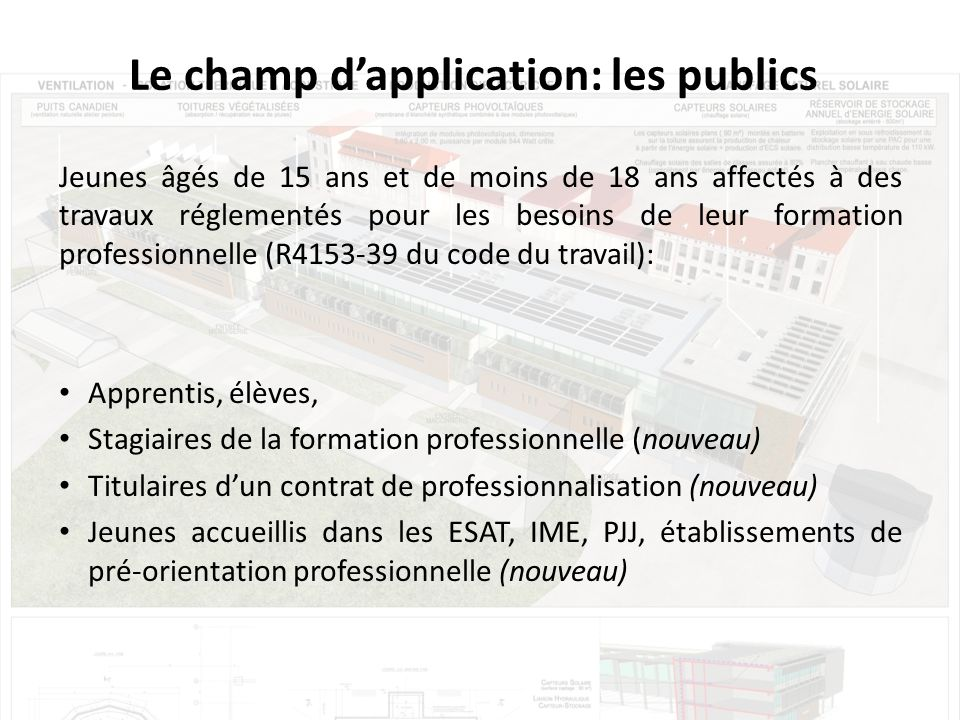 Le champ d'application: les publics