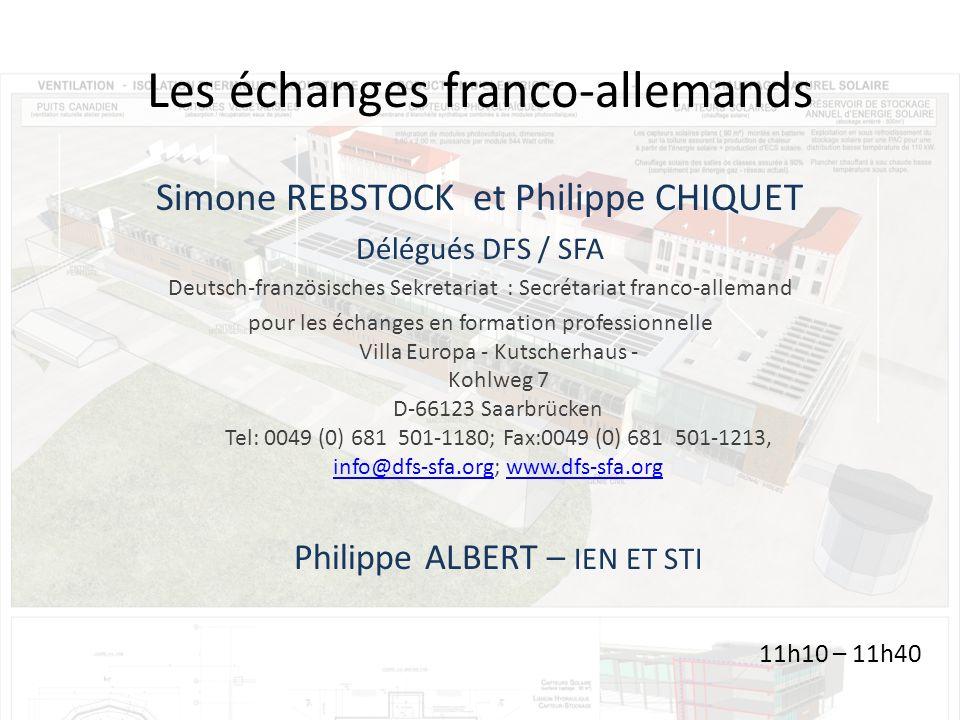 Les échanges franco-allemands