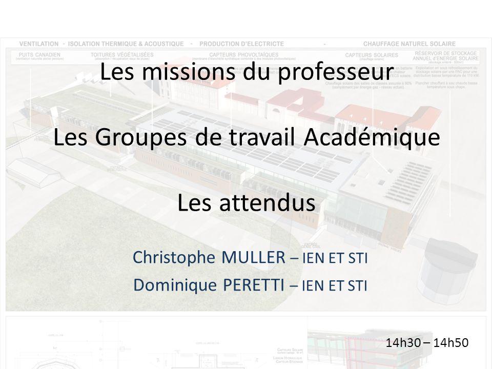 Christophe MULLER – IEN ET STI Dominique PERETTI – IEN ET STI