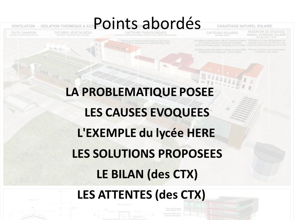 LES SOLUTIONS PROPOSEES