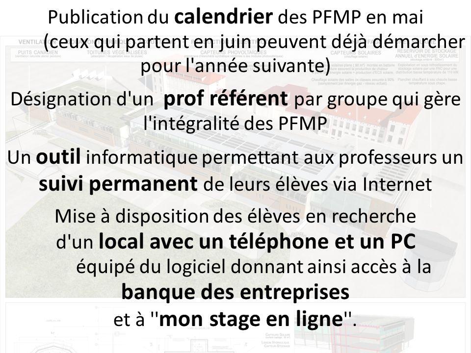 Publication du calendrier des PFMP en mai