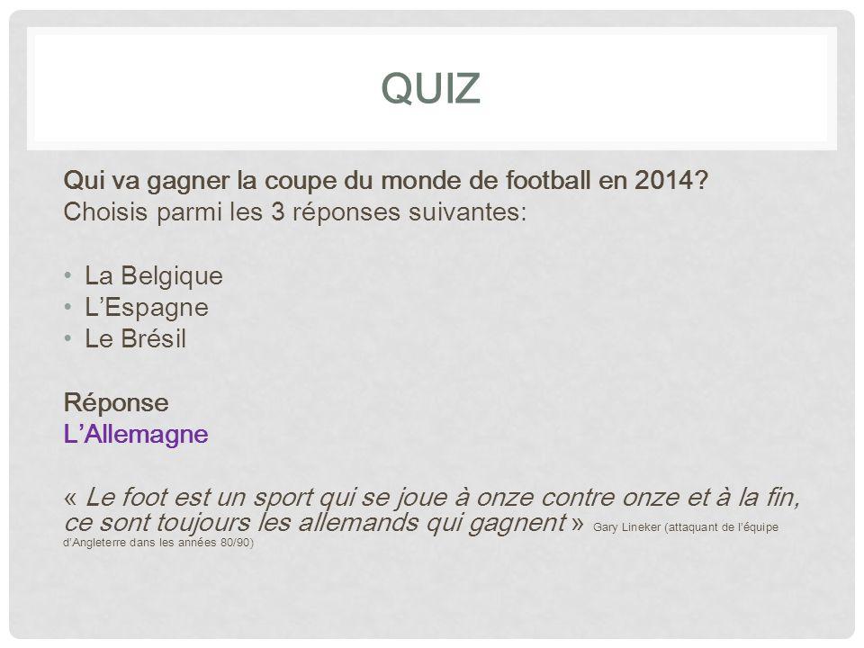 QUIZ Qui va gagner la coupe du monde de football en 2014