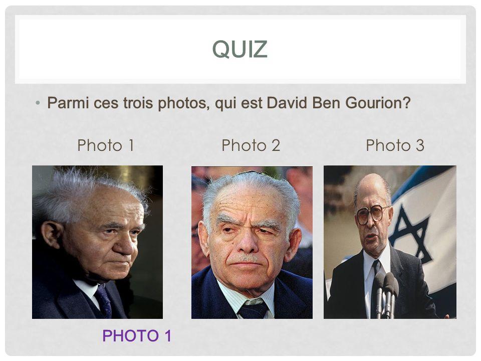 QUIZ Parmi ces trois photos, qui est David Ben Gourion