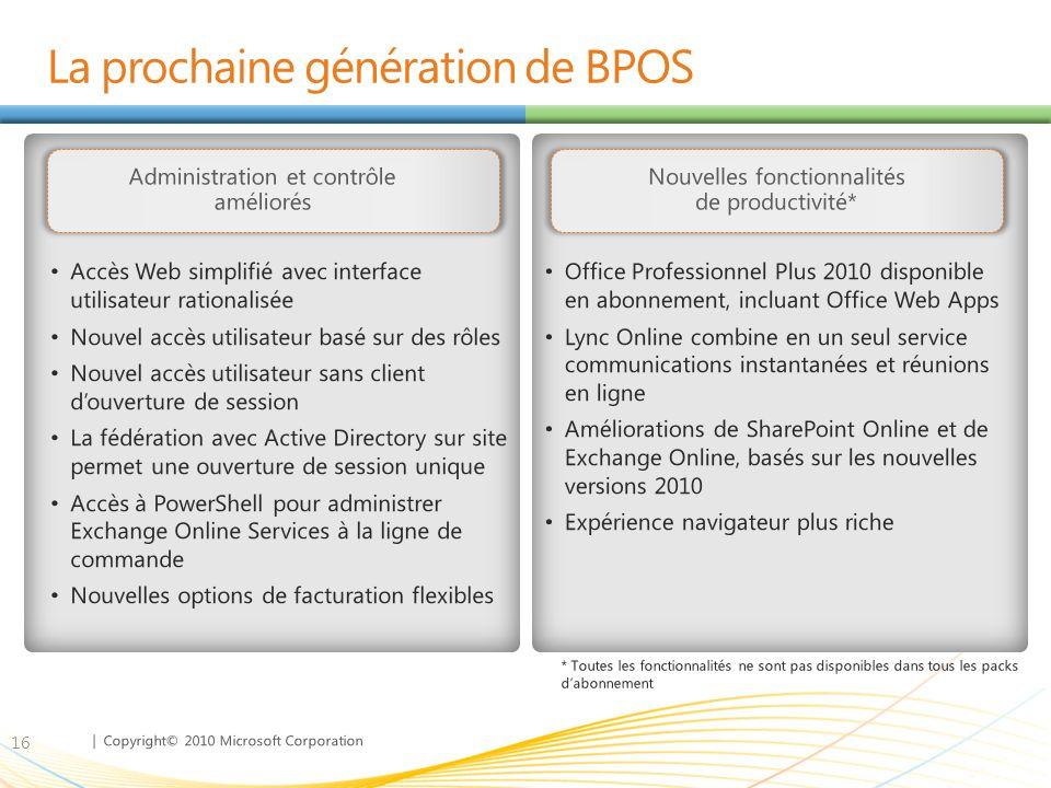 La prochaine génération de BPOS