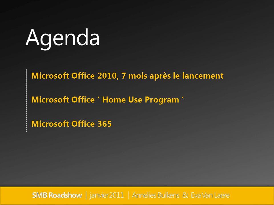 Agenda Microsoft Office 2010, 7 mois après le lancement