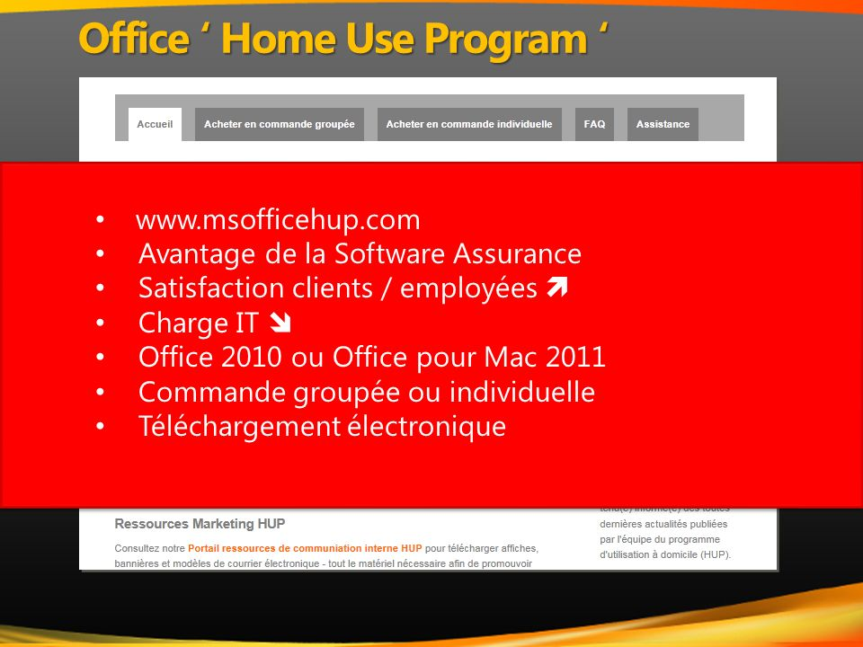 Office ' Home Use Program '
