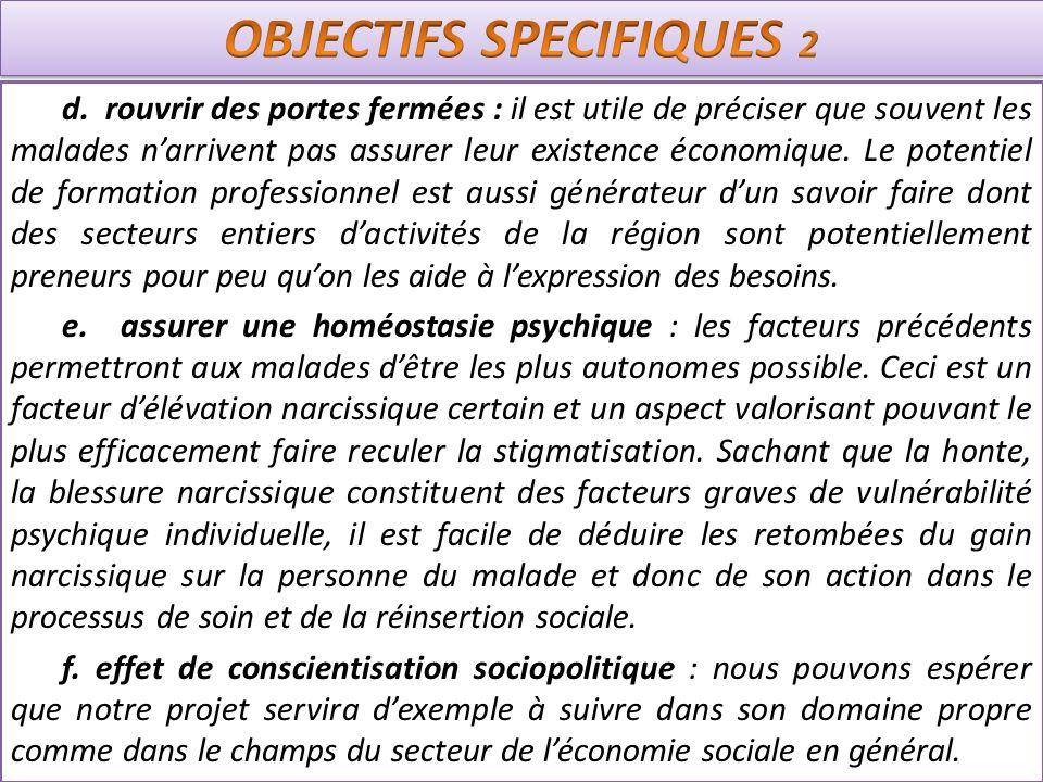 OBJECTIFS SPECIFIQUES 2