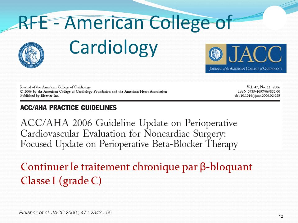 RFE - American College of Cardiology