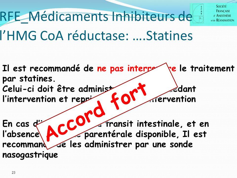 RFE_Médicaments Inhibiteurs de l'HMG CoA réductase: ….Statines