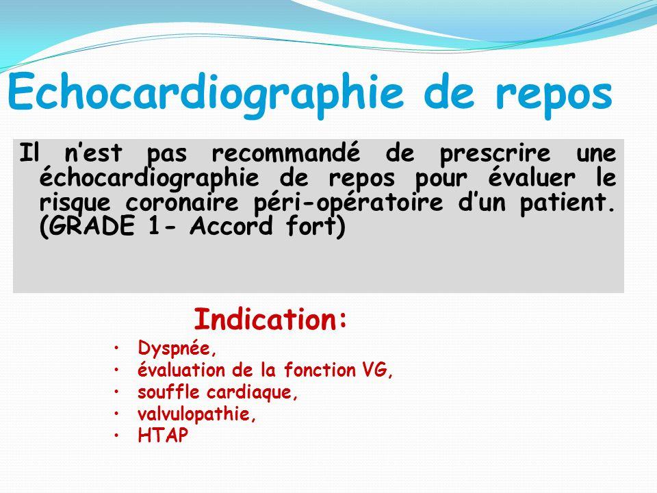 Echocardiographie de repos