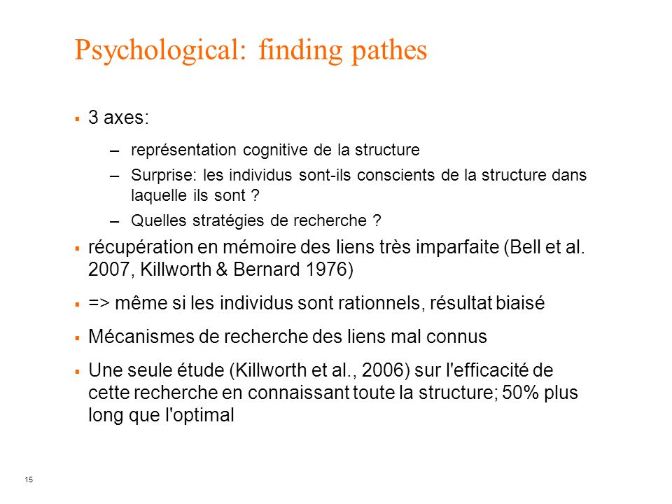 Psychological: finding pathes