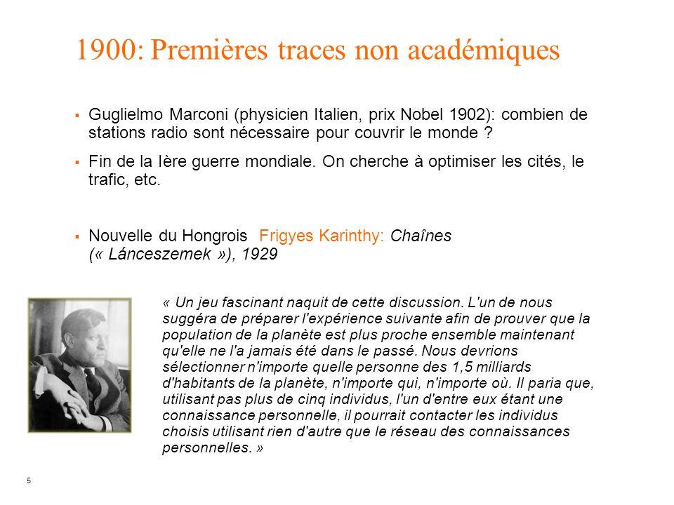 1900: Premières traces non académiques