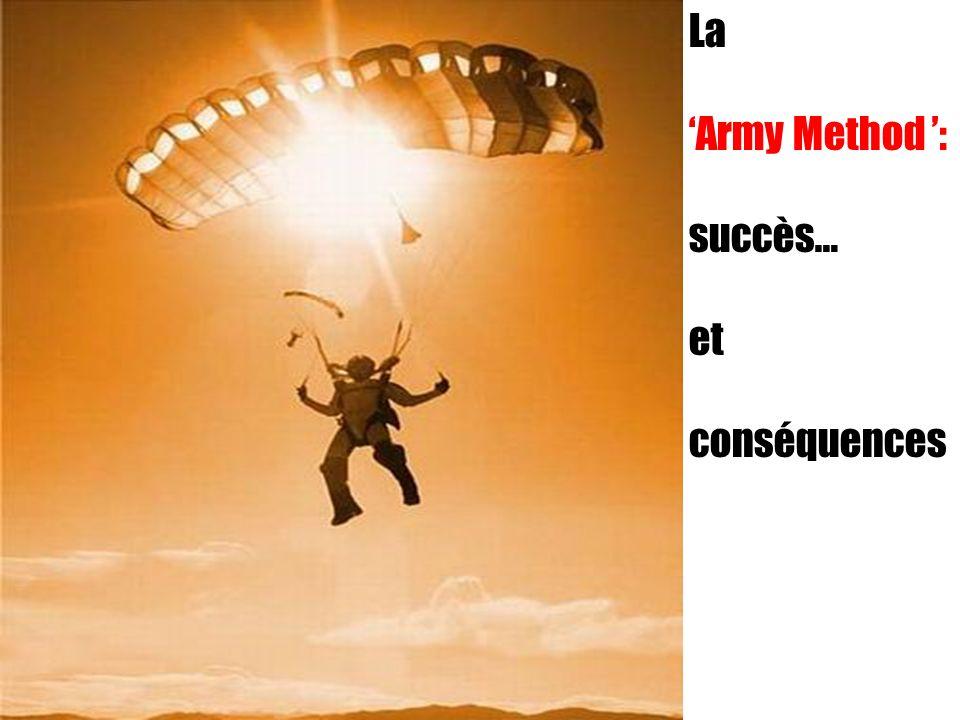 La 'Army Method ': succès… et conséquences