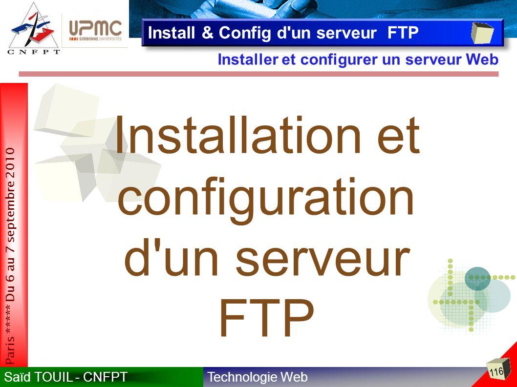 Installation et configuration d un serveur FTP