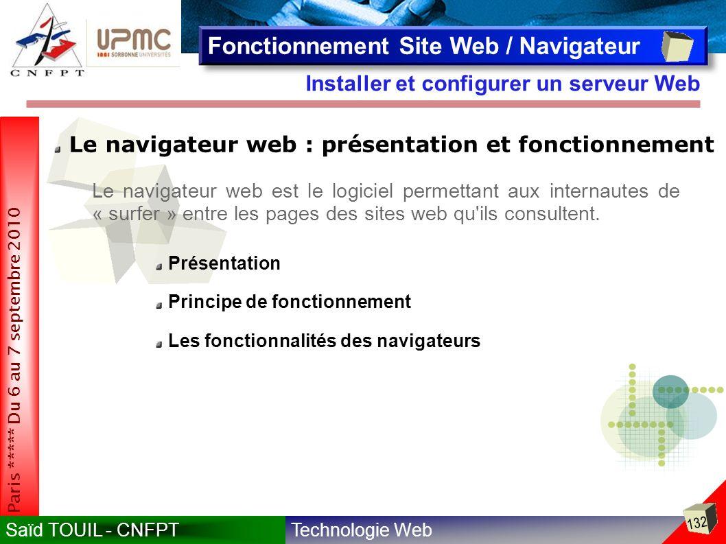 Fonctionnement Site Web / Navigateur