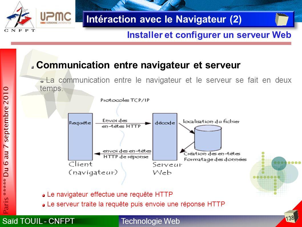 Intéraction avec le Navigateur (2)
