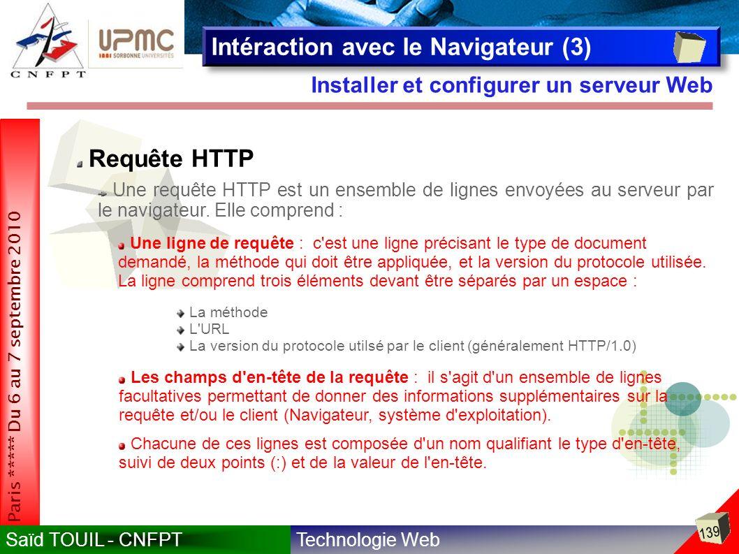 Intéraction avec le Navigateur (3)