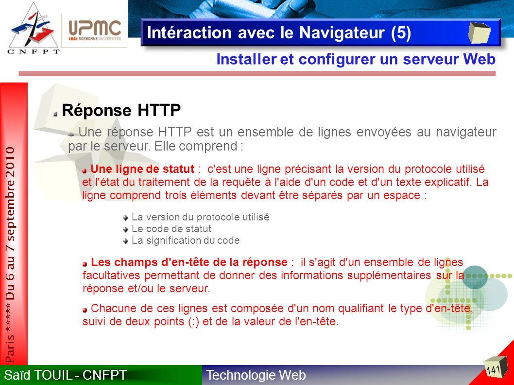 Intéraction avec le Navigateur (5)