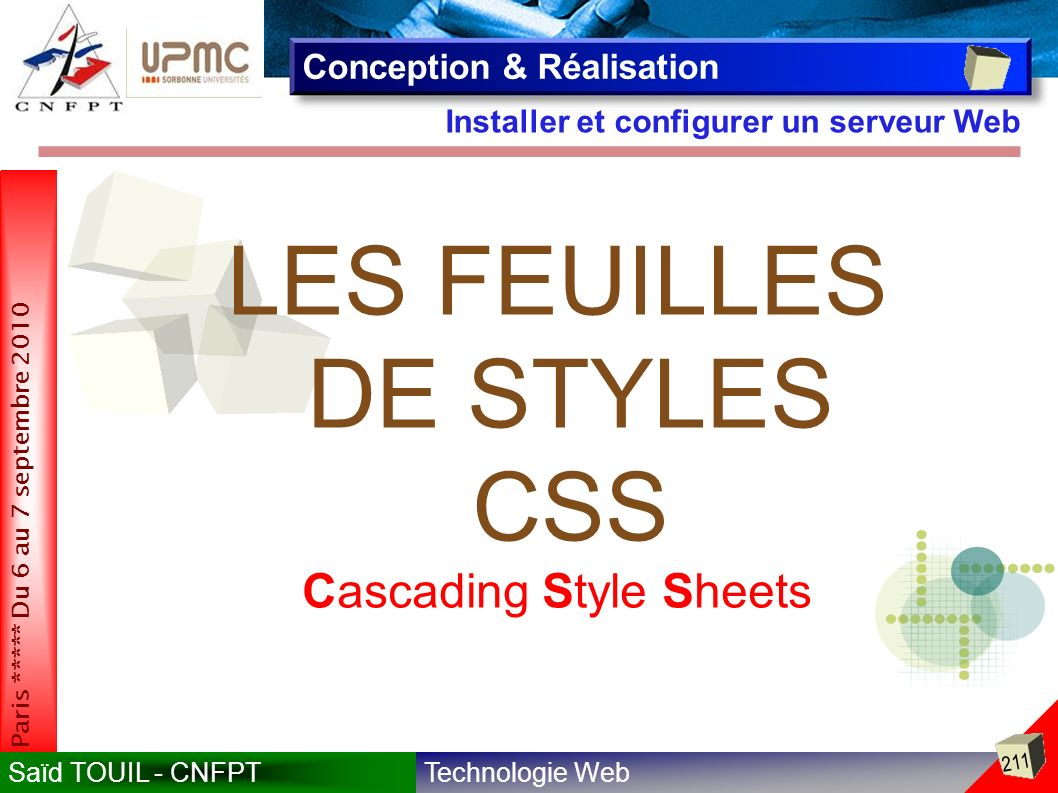 LES FEUILLES DE STYLES CSS