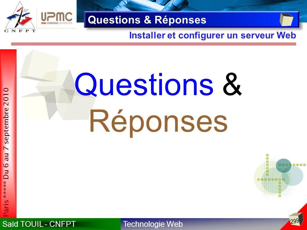 Questions & Réponses Questions & Réponses