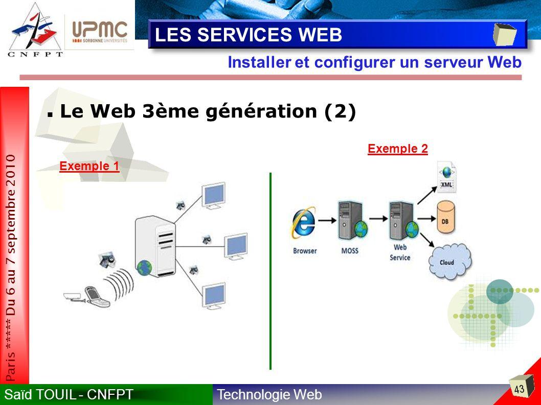 LES SERVICES WEB Le Web 3ème génération (2)