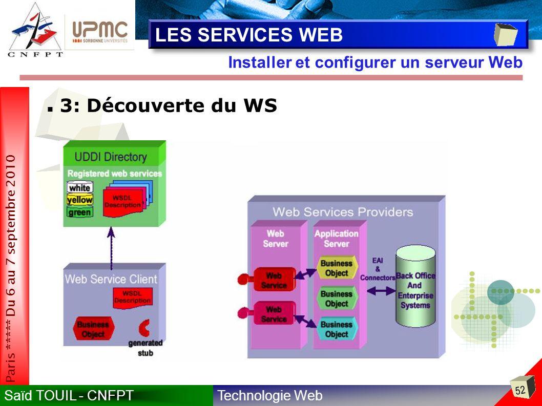 LES SERVICES WEB 3: Découverte du WS