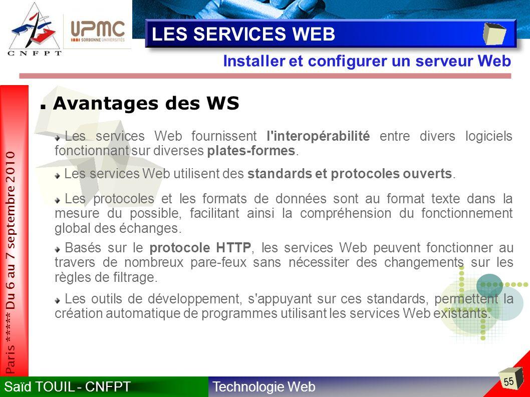 LES SERVICES WEB Avantages des WS