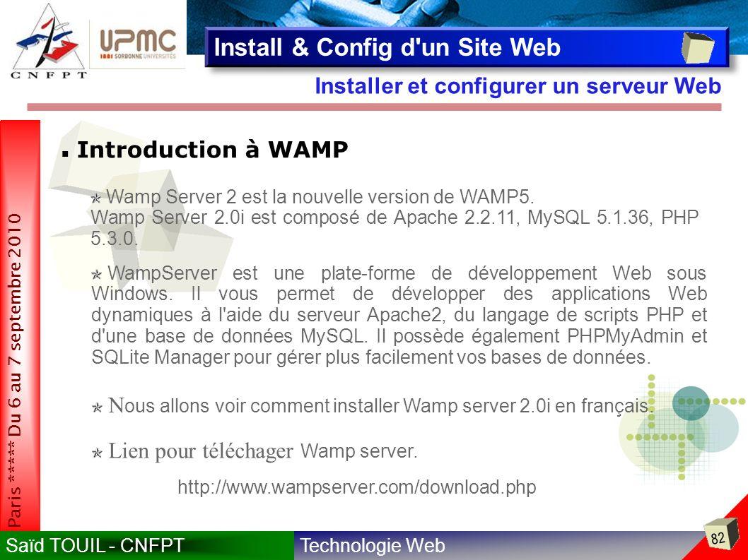 Install & Config d un Site Web