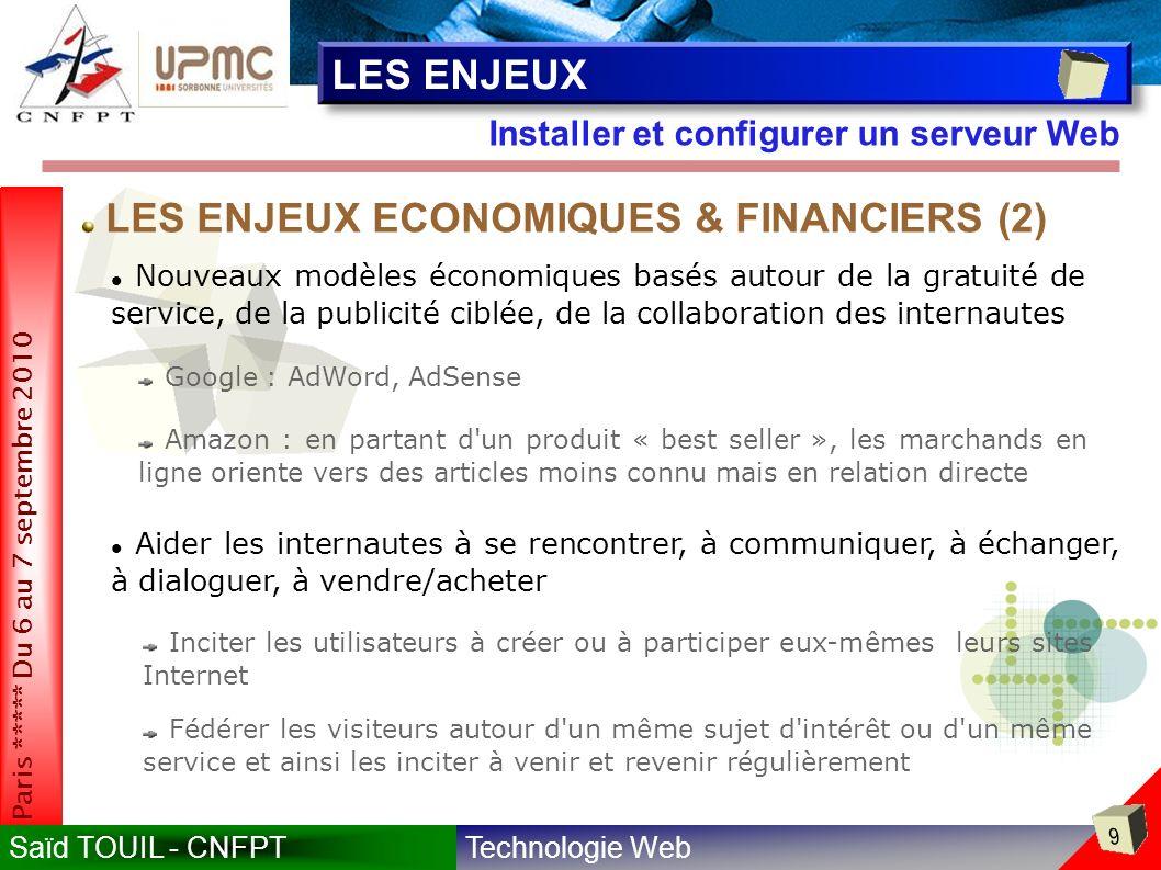 LES ENJEUX ECONOMIQUES & FINANCIERS (2)