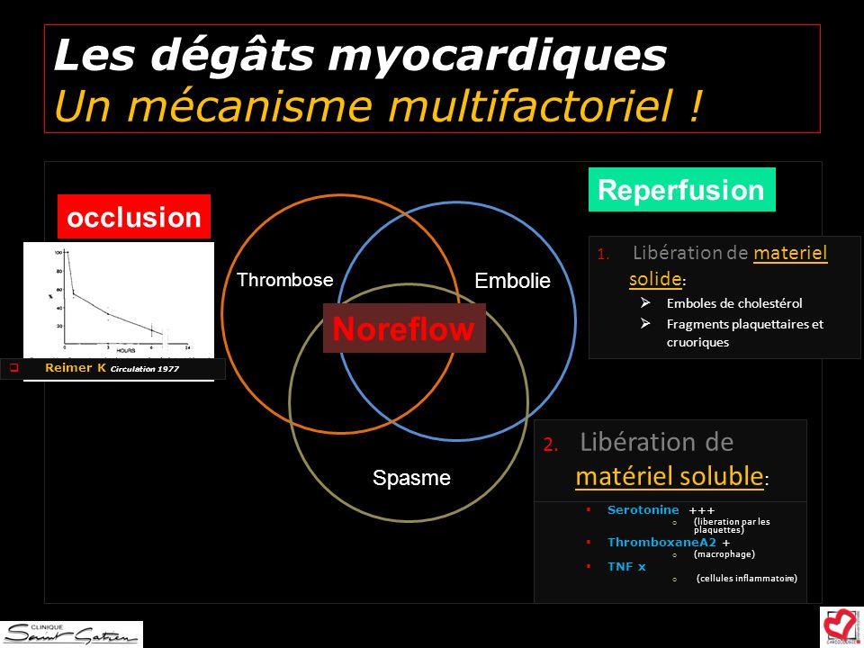 Les dégâts myocardiques Un mécanisme multifactoriel !