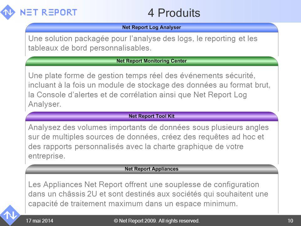 4 Produits Une solution packagée pour l'analyse des logs, le reporting et les tableaux de bord personnalisables.