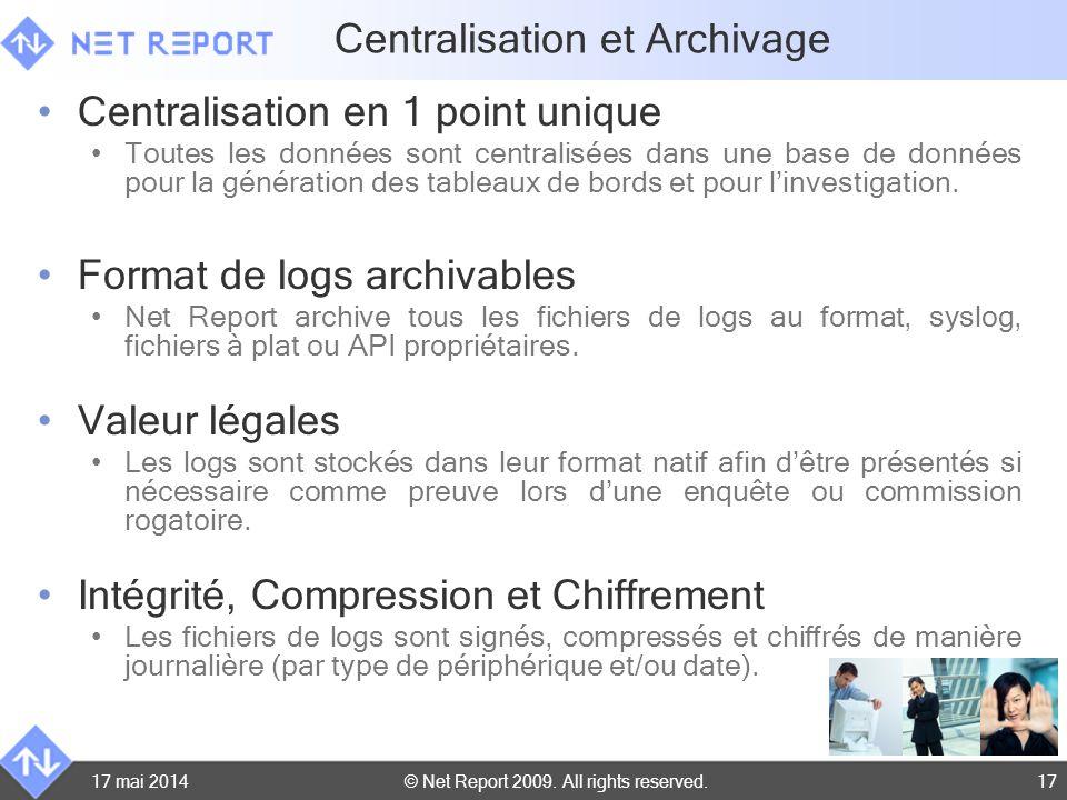 Centralisation et Archivage