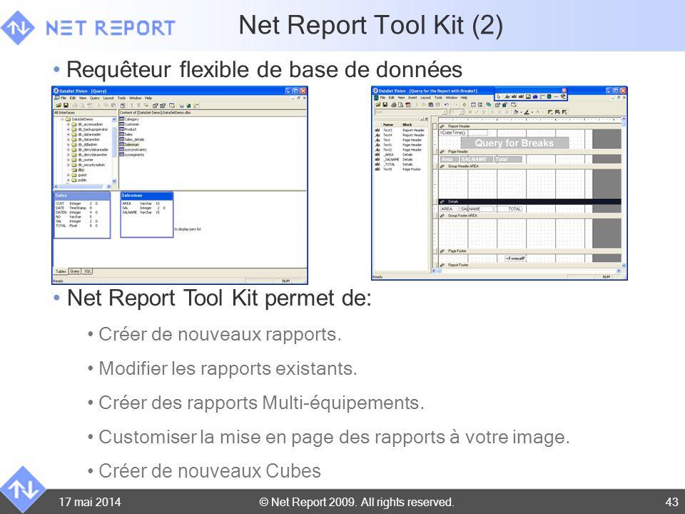 Net Report Tool Kit (2) Requêteur flexible de base de données