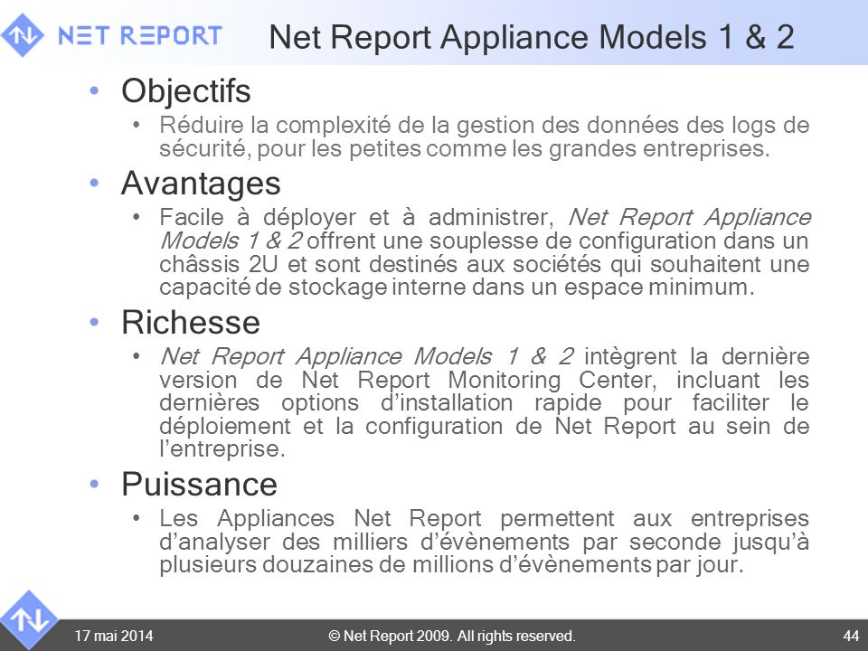 Net Report Appliance Models 1 & 2