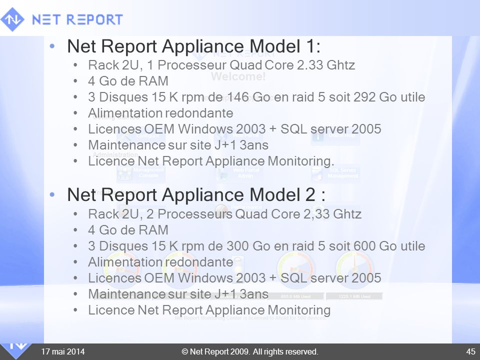 Net Report Appliance Model 1: