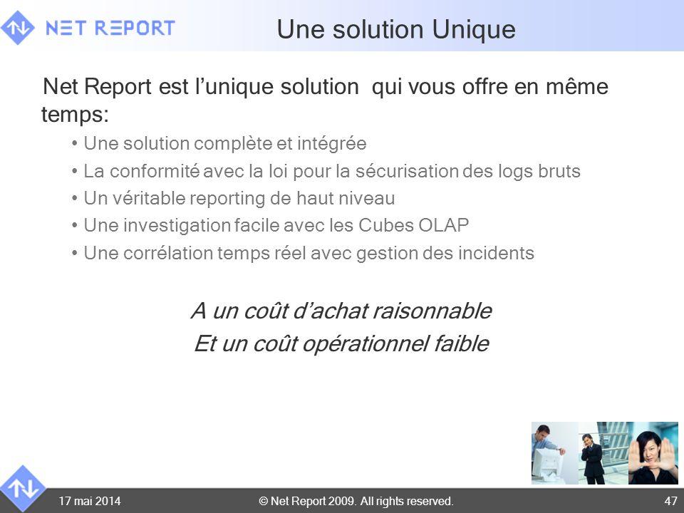Une solution Unique Net Report est l'unique solution qui vous offre en même temps: Une solution complète et intégrée.