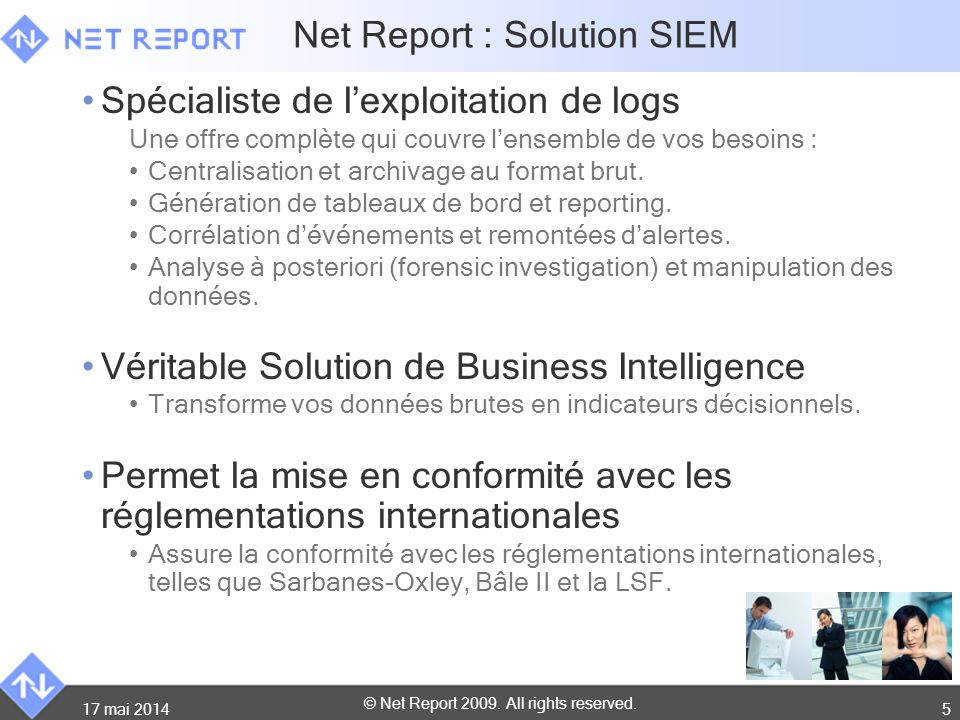 Net Report : Solution SIEM