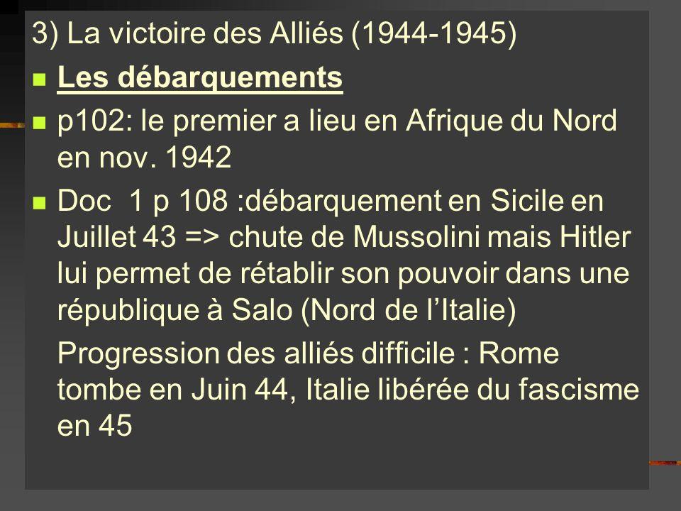 3) La victoire des Alliés (1944-1945)