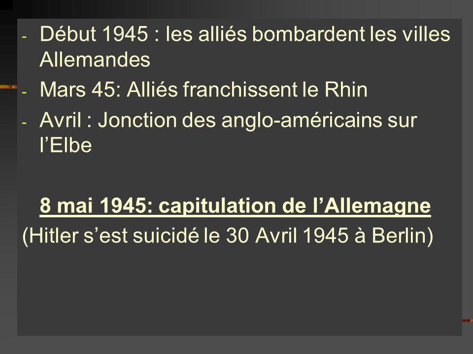 Début 1945 : les alliés bombardent les villes Allemandes